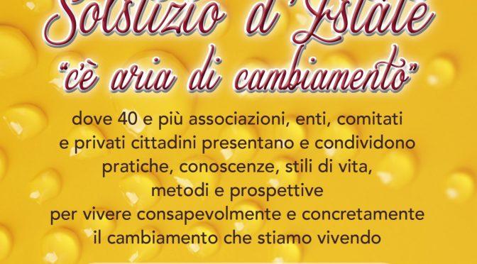A FENIS DOMENICA 26 GIUGNO TORNA LA FESTA DEL SOLSTIZIO: LEGAMBIENTE C'E'!